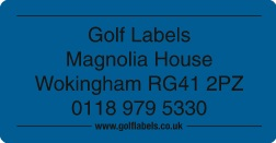blue golf label