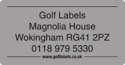 silver golf label