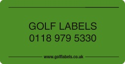 green golf label